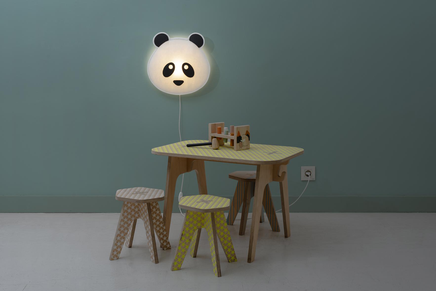 lampara infantil panda de buokids